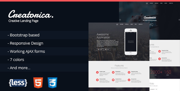 Creatorica – Responsive Bootstrap Landing Page