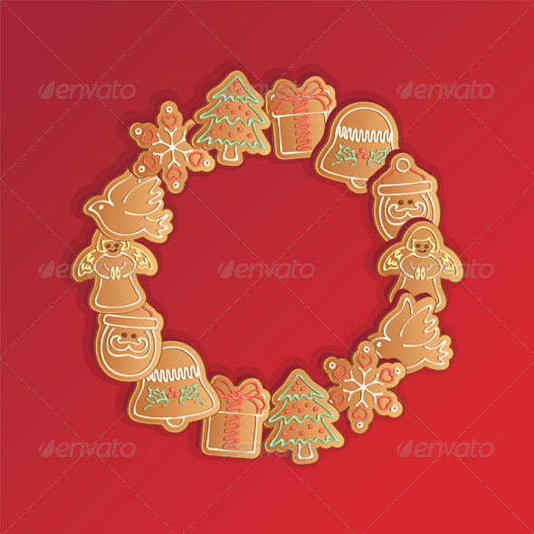 Christmas Gingerbread Cookies Garland - Christmas Seasons/Holidays