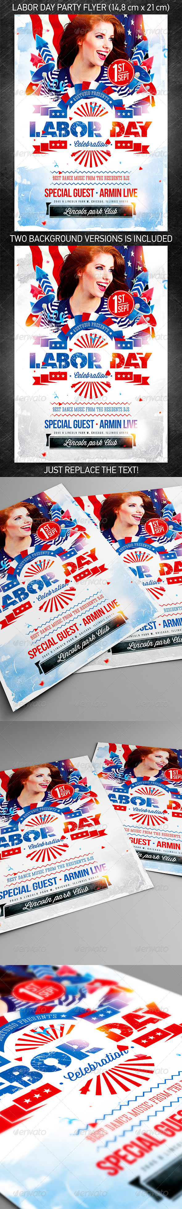 Labor Day Party Flyer vol.2 - Holidays Events