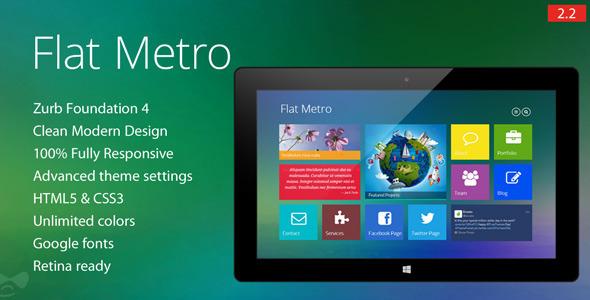 Flat Metro - Responsive Drupal Theme - Creative Drupal