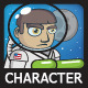 Space Defender Character - GraphicRiver Item for Sale