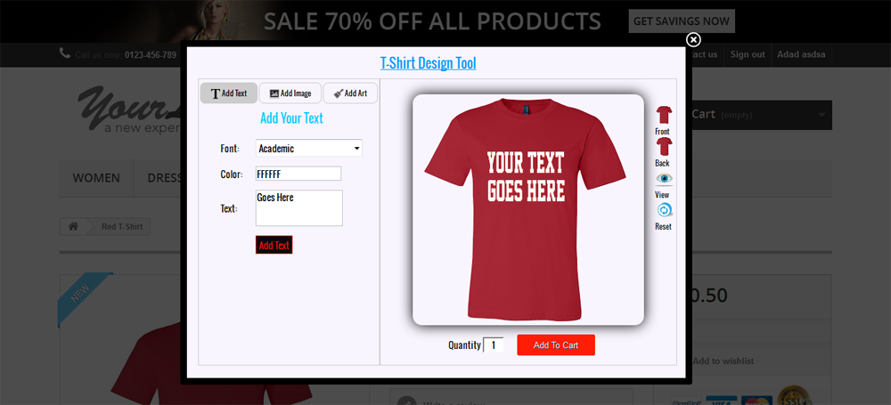 bbaa0e8d Custom Product and T-shirt Design for Prestashop by wpproducts ...