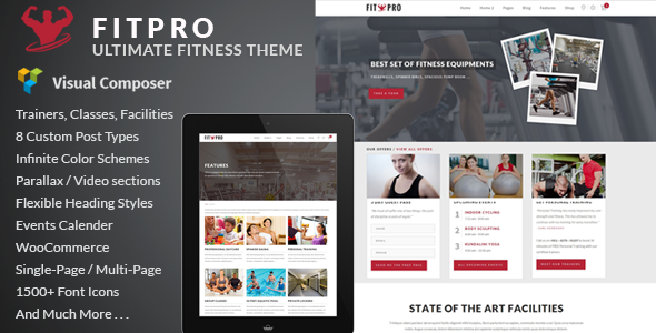 FitPro – Events Fitness Gym Sports WordPress Theme