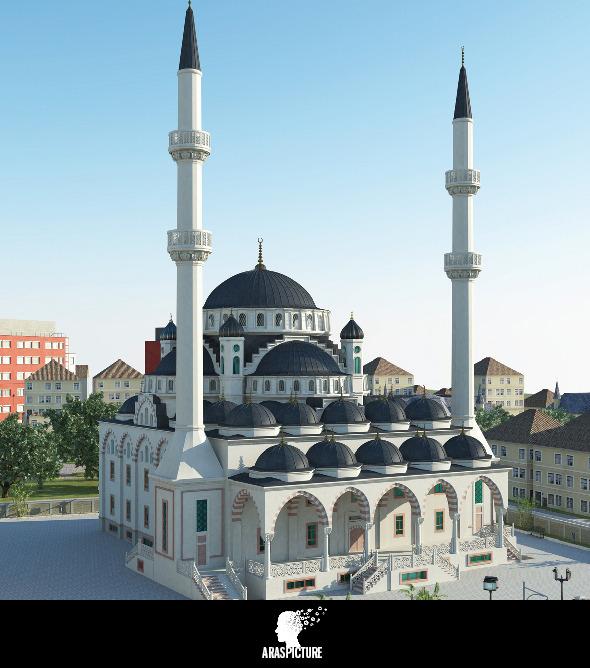 3d mosque model - 3DOcean Item for Sale