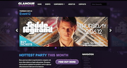 Glamour Nightclub – WordPress Theme