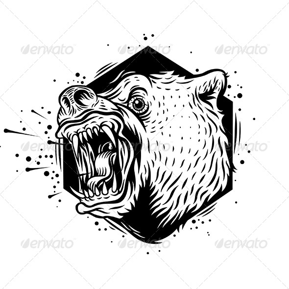 Angry Bear - Animals Characters