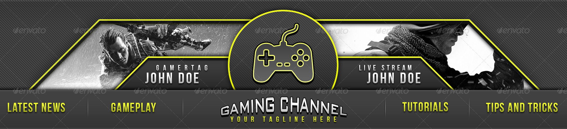gaming channel youtube banner by triigzdesigns