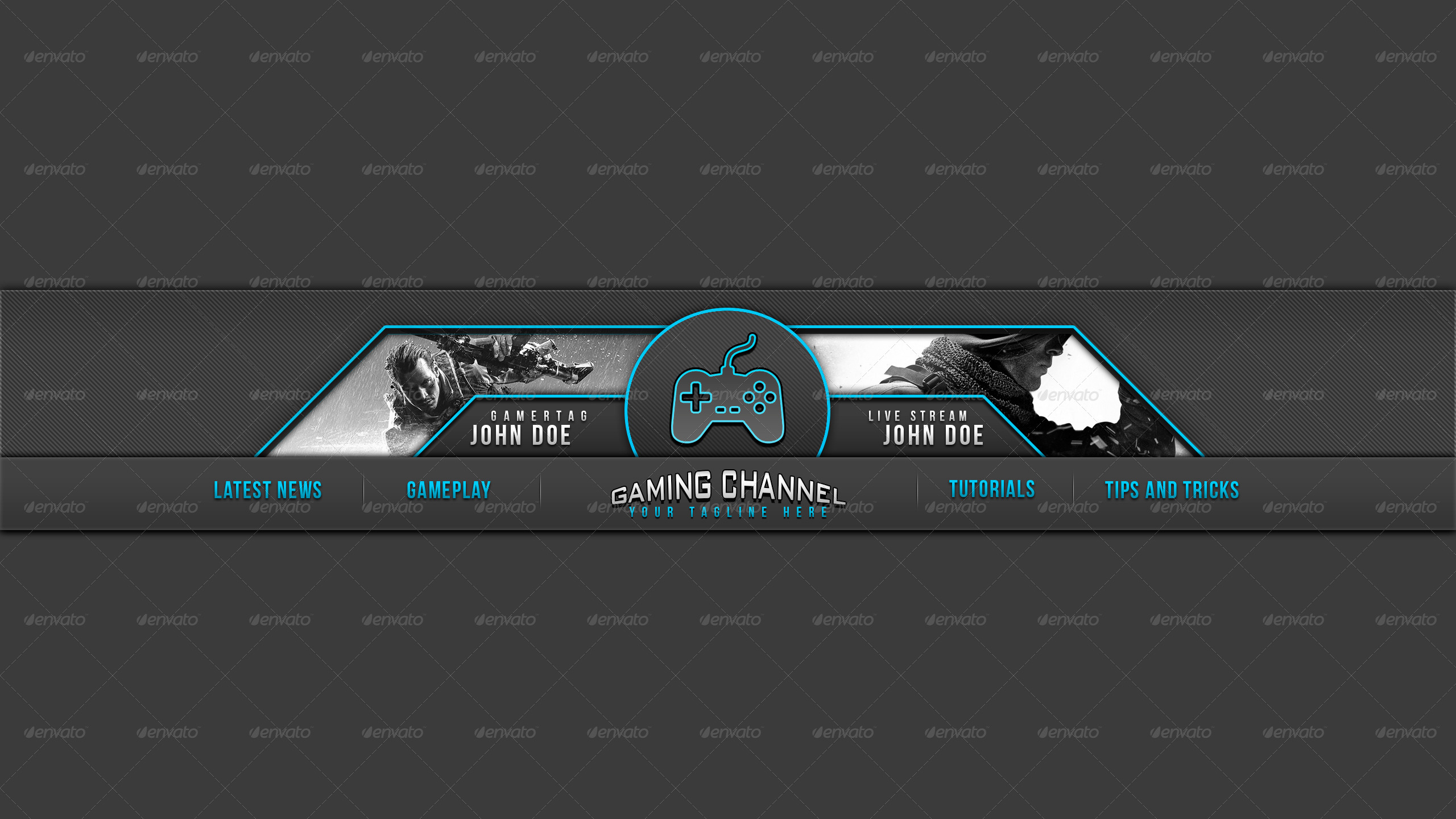 custom youtube channel art