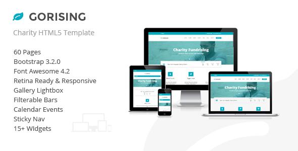 Gorising – Charity | Nonprofit | Fundraising HTML