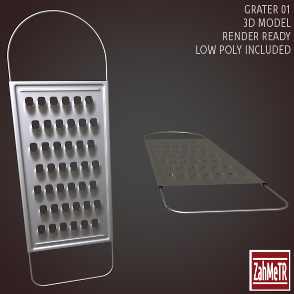 Grater 01 Low - High Poly 3D Model - 3DOcean Item for Sale