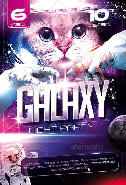 Galaxy Night Party Templates by sluap | GraphicRiver