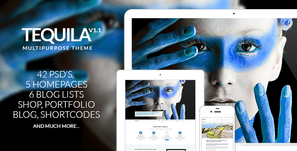 TEQUILA – Multi-Purpose PSD Template - Business Corporate