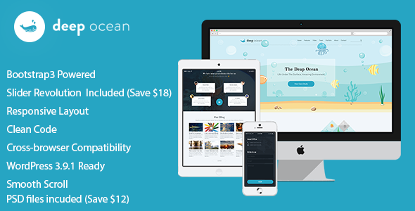 DeepOcean Responsive WordPress Theme - Creative WordPress