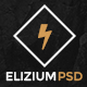 Elizium - One Page PSD Template