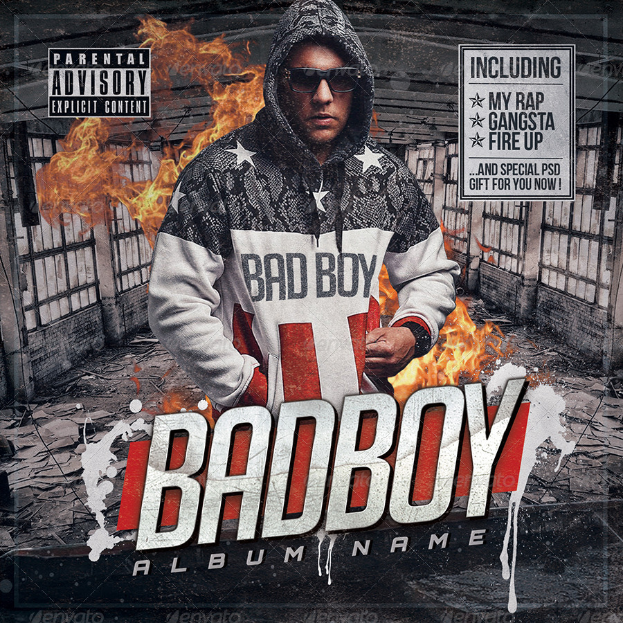 Mixtape Cover Template Psd Bad Boy By Hartmanns Graphicriver