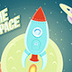 Space Rocket Ship Cartoon Flat Design - GraphicRiver Item for Sale