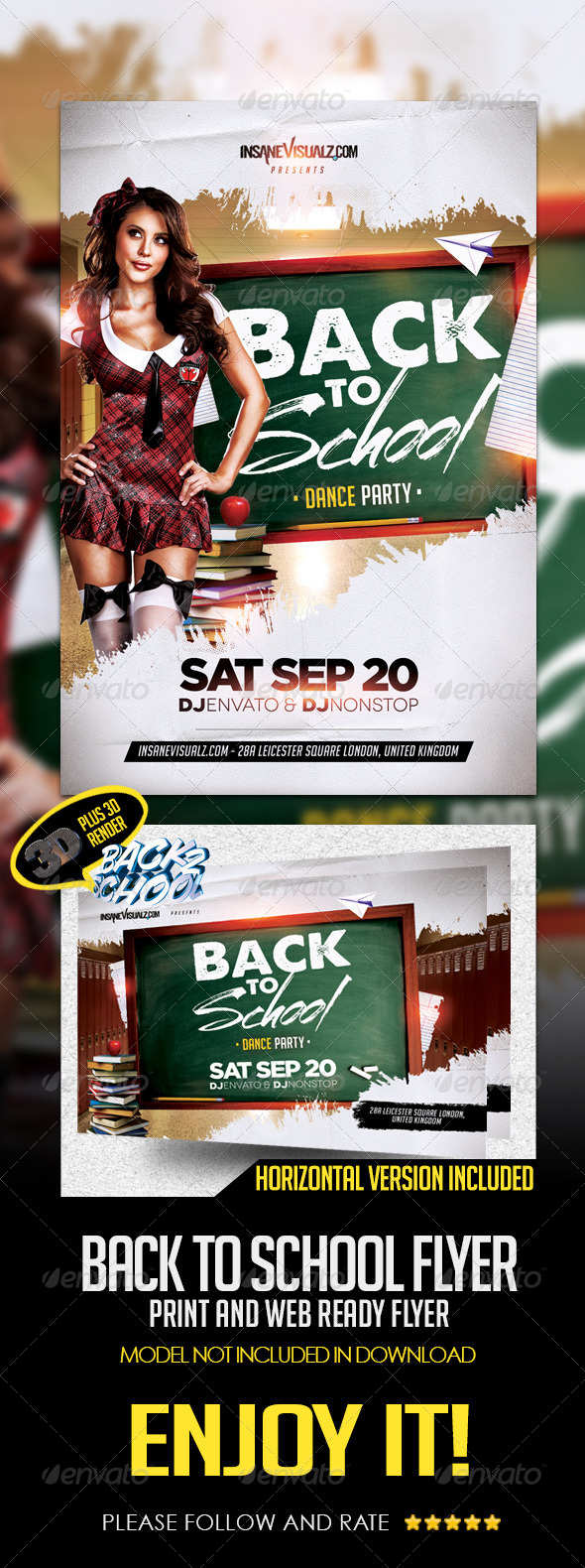 Back To School Dance Party Flyer Template By Dopedownloads