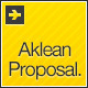 Aklean Proposal & Brief Template - GraphicRiver Item for Sale
