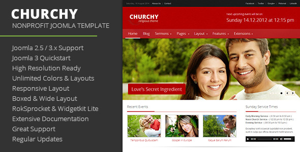 Churchy - Nonprofit Joomla Template - Churches Nonprofit