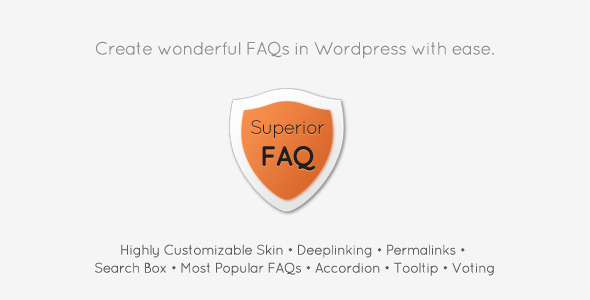 Superior FAQ - Wordpress plugin - CodeCanyon Item for Sale
