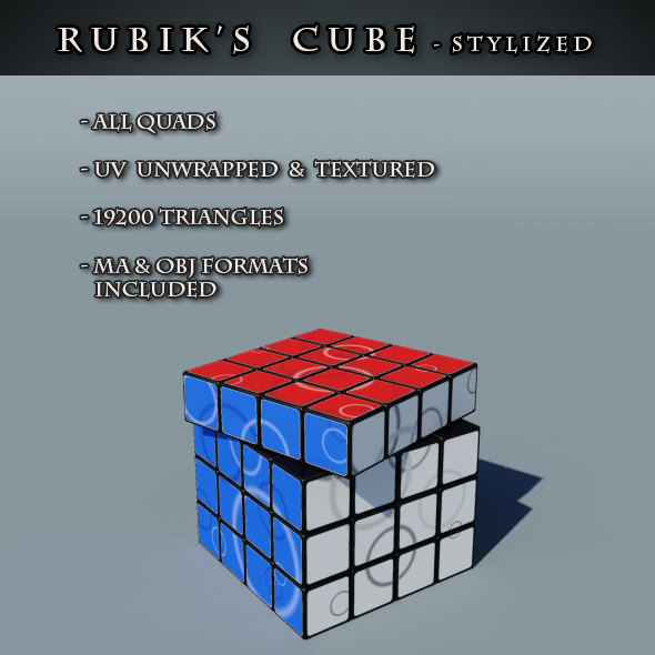 Rubix's Cube Stylized - 3DOcean Item for Sale