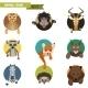 Animal Avatars. Vector Illustration - GraphicRiver Item for Sale