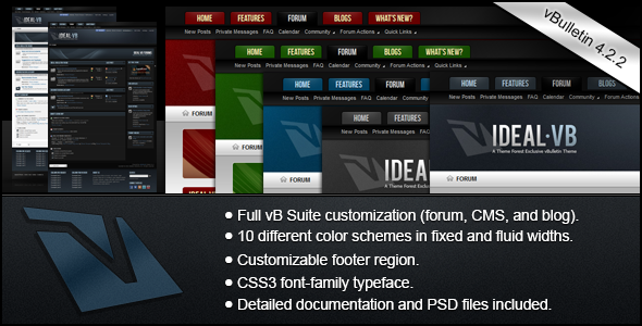 Free Download Ideal - A vBulletin 4 Suite Theme Nulled Latest Version