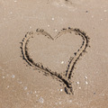 Heart on beach. Romantic composition. - PhotoDune Item for Sale