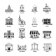 Government Building Icons Set - GraphicRiver Item for Sale