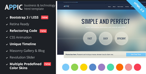 Appic – Business & Technology Bootstrap Template