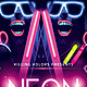 Neon / Glow Party Flyer - GraphicRiver Item for Sale