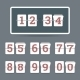 Flip Clock with All Numbers - GraphicRiver Item for Sale