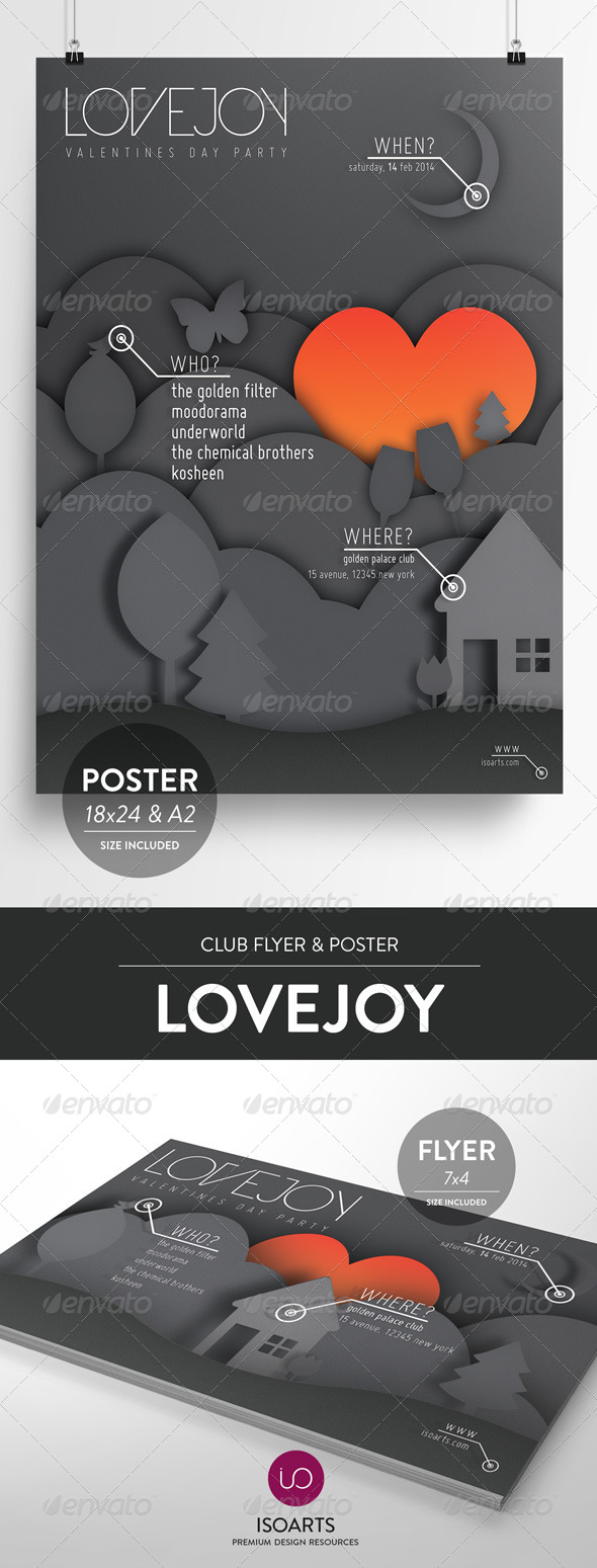 Lovejoy • Club Flyer & Poster - Clubs & Parties Events