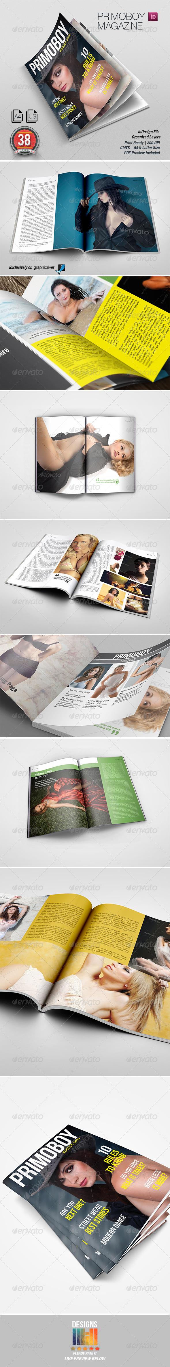 Primoboy Magazine - Magazines Print Templates