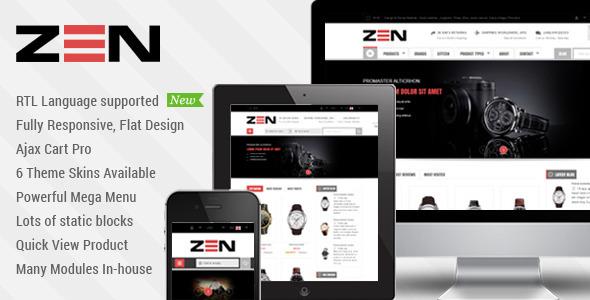 SM Zen – Responsive Multi-Store Magento Theme