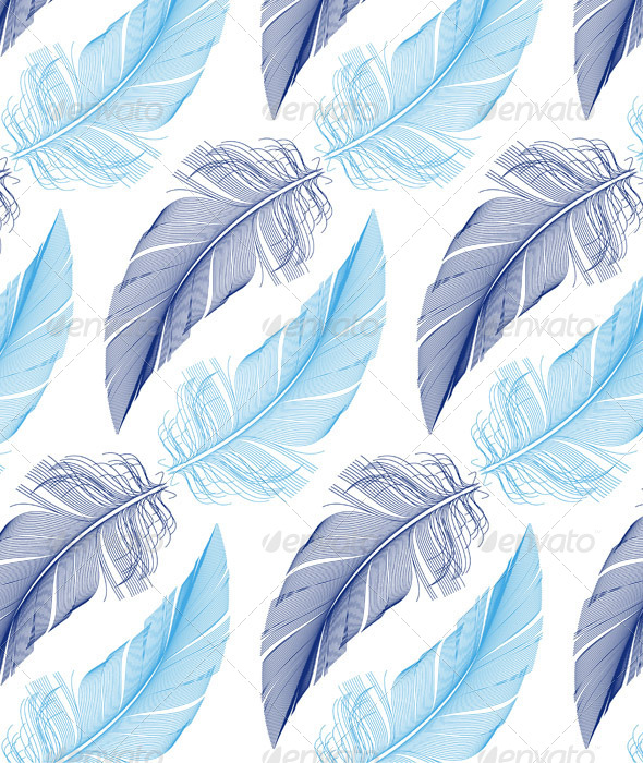 Feather Seamless Pattern Vector By Amourfou Graphicriver