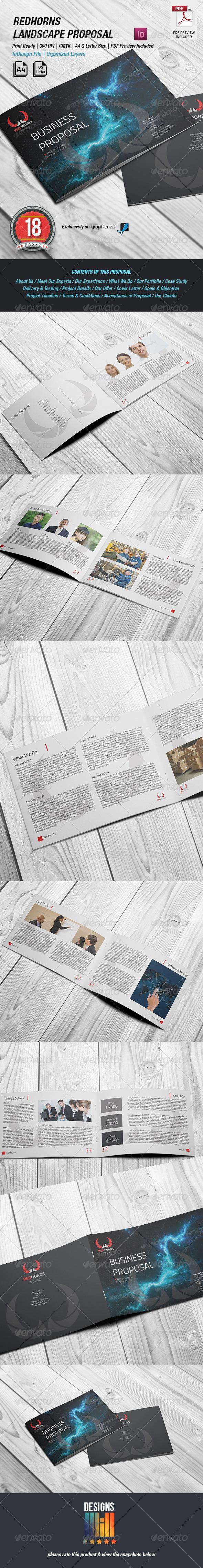 RedHorns Landscape Proposal  - Proposals & Invoices Stationery