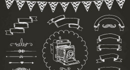 Hand Drawn Design Elements, Icons, Background Patterns