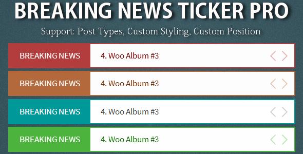Breaking News Ticker Pro By Alisaleem252 Codecanyon