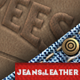 Leather Jeans Label Photoshop Creator - GraphicRiver Item for Sale