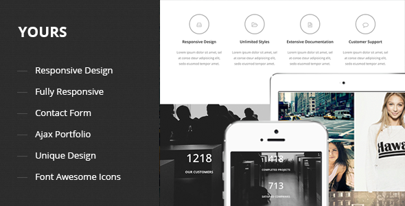 Yours – Responsive Onepage Template