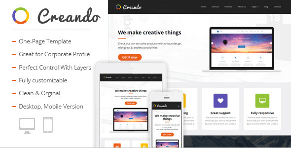 Creando - Creative Muse Template - Creative Muse Templates