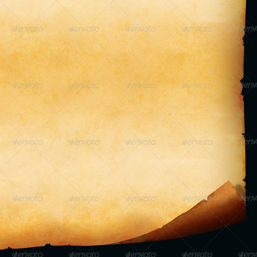 Old Paper Scroll With Layered PSD By -wowu-