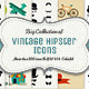 Big Collection of Vintage Icons - GraphicRiver Item for Sale