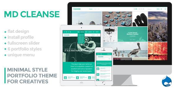Cleanse – Minimal Style Drupal Portfolio Theme