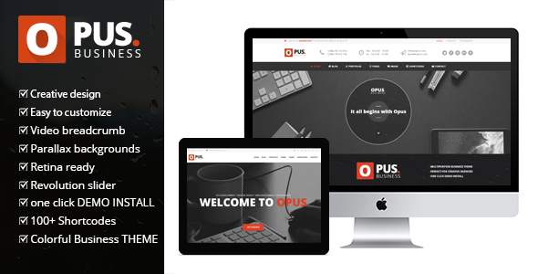 Opus Business – Multipurpose Business WordPress Theme