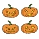 Set of Cartoon Halloween Pumpkins - GraphicRiver Item for Sale