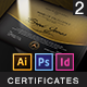 Multipurpose Modern Certificates - GraphicRiver Item for Sale