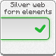 Silver Web Form Elements - GraphicRiver Item for Sale