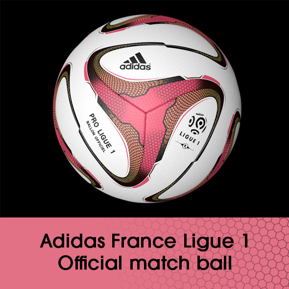 Adidas France Ligue 1 ball 3D model - 3DOcean Item for Sale